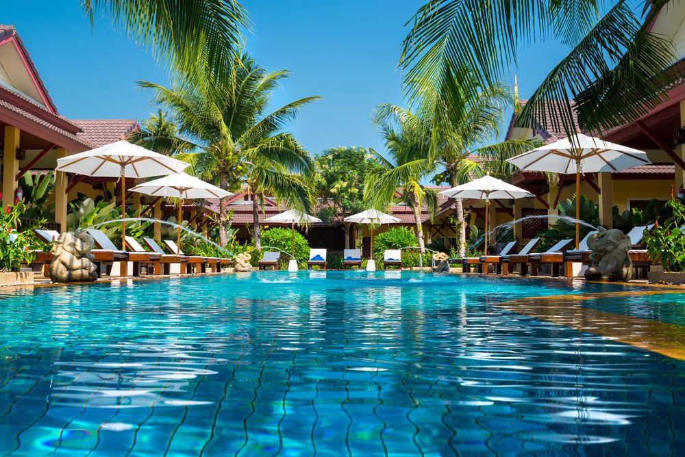 Turks and Caicos beautiful resort pool