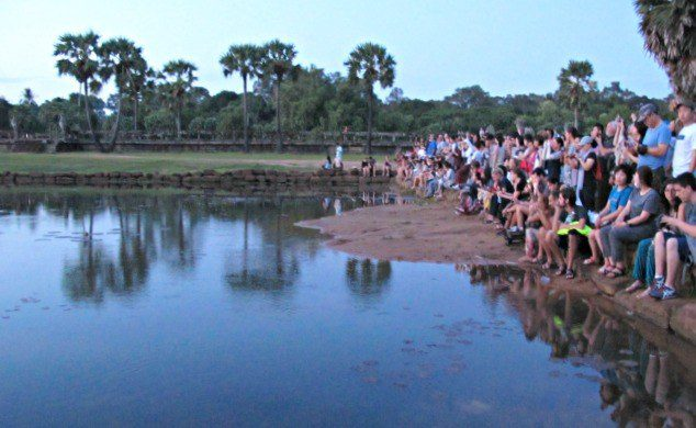 Angkor Wat Sunrise Crowd