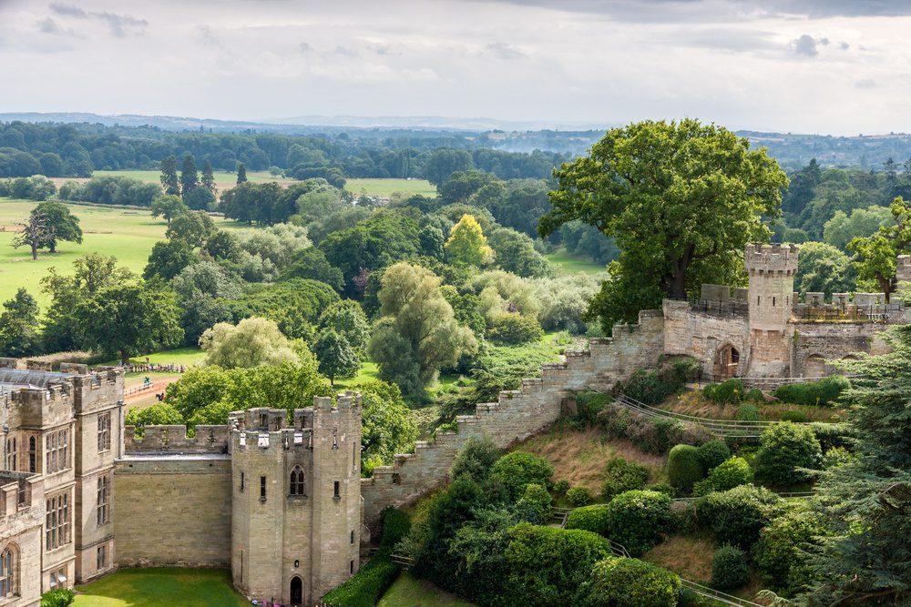 View of Warwick castle