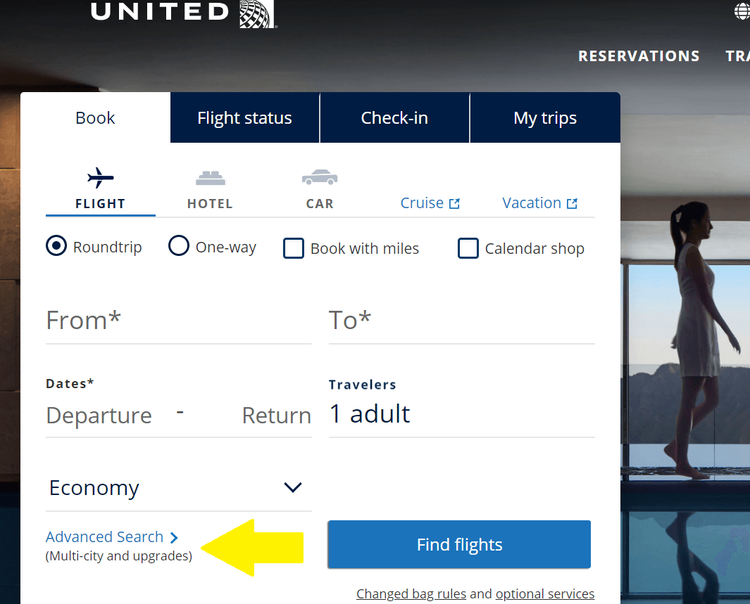 book flight with united miles