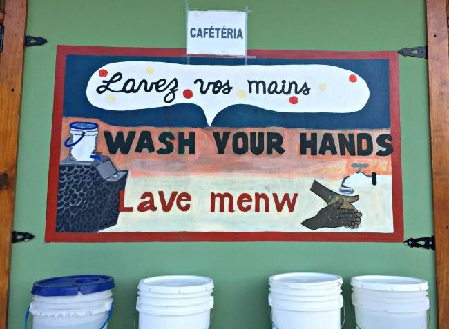 Haiti wash your hands