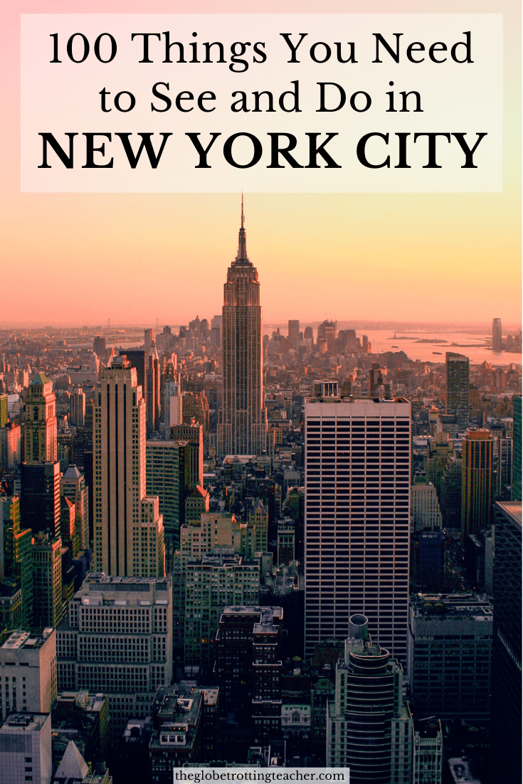 100 Things You Need to See and Do in New York City! Which ones have you done? What's still on you New York must-see list?
