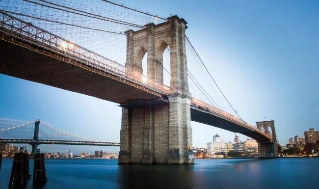 Brooklyn Bridge Stock New York