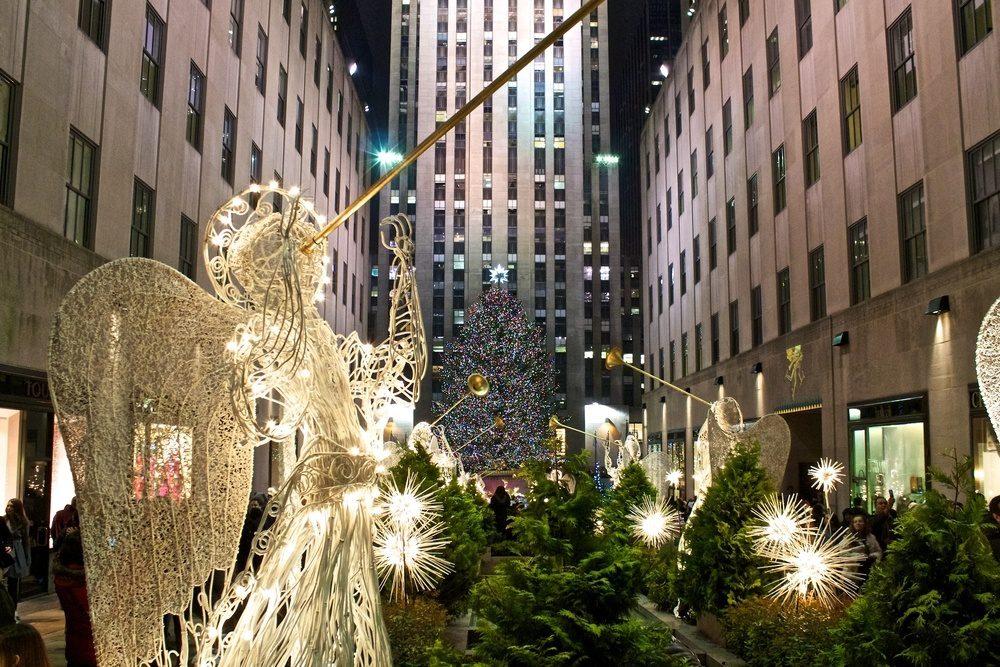 Christmas in New York City Rockefeller Center Tree