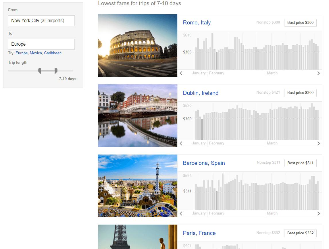 Google Explore example