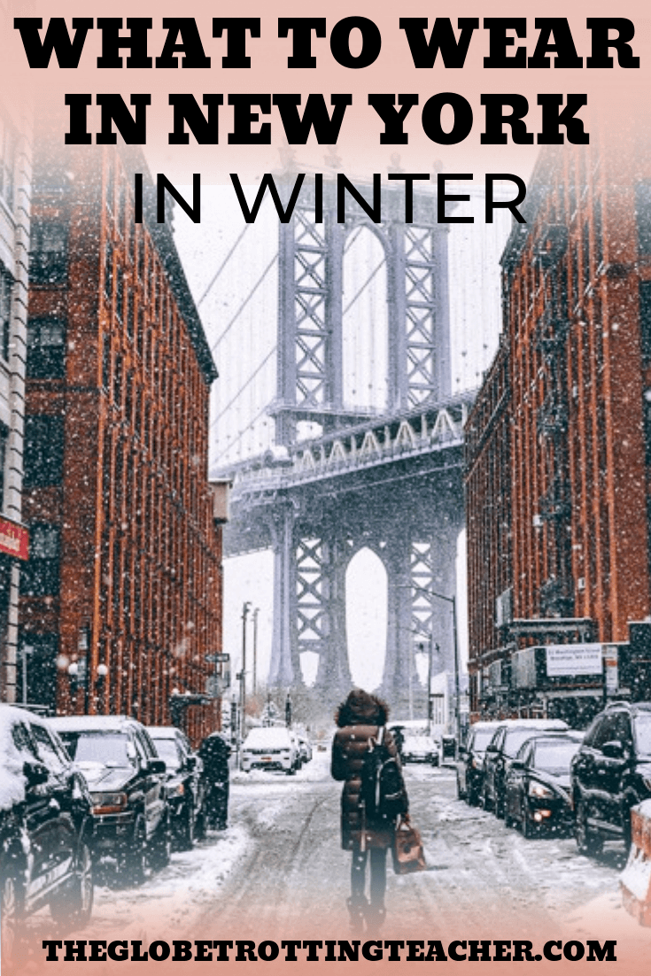 What to Wear in New York in Winter - Planning a winter or Christmas in New York trip? NYC gets pretty cold so use this what to pack for NYC in December, January, February guide to make sure you have what you need to have an unforgettable winter trip to New York City no matter when you visit! #travel #NYC #packinglist