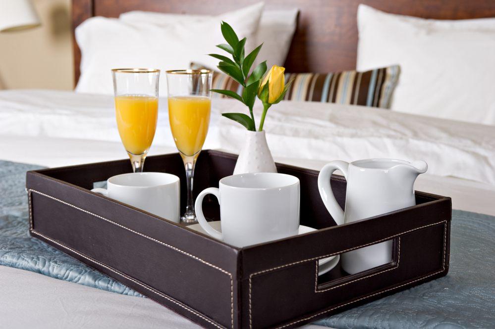 Hotel Room Breakfast in bed