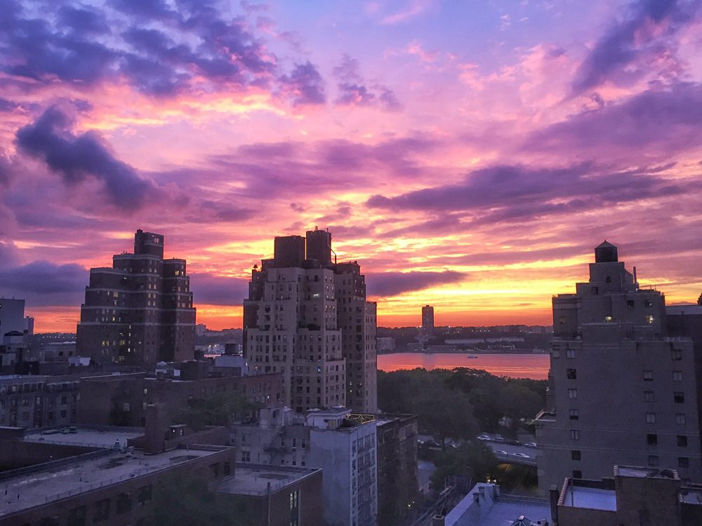 Upper West Side NYC Purple Sunset
