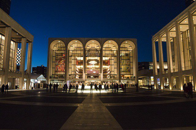 Lincoln Center NYC at night