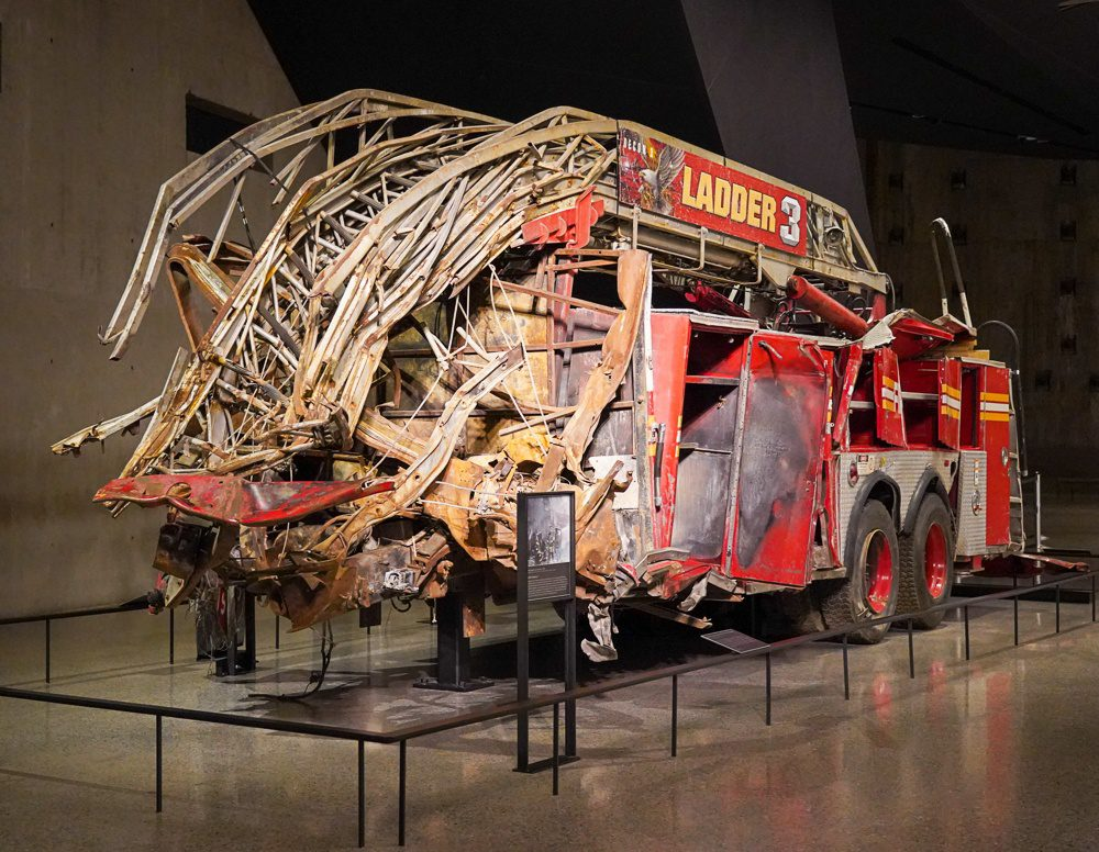 911 museum NYC Fire truck